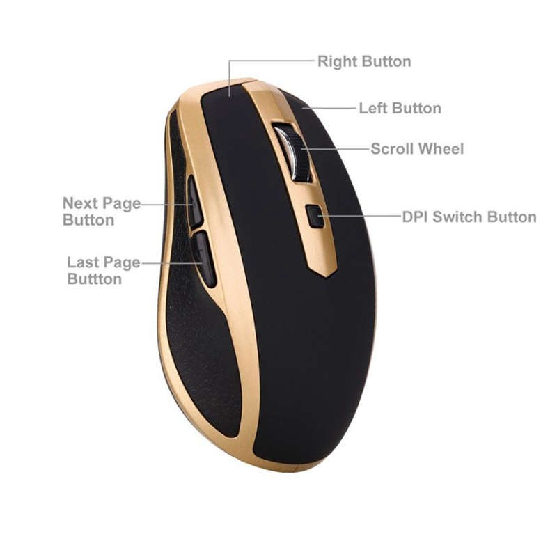 Fashion Mouse Rechargeable Wireless Mini Bluetooth 3 0 1600Dpi Mouse