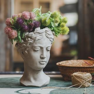 Chậu Hoa Hình Chân Dung Sáng Tạo Phong Cách Vintage