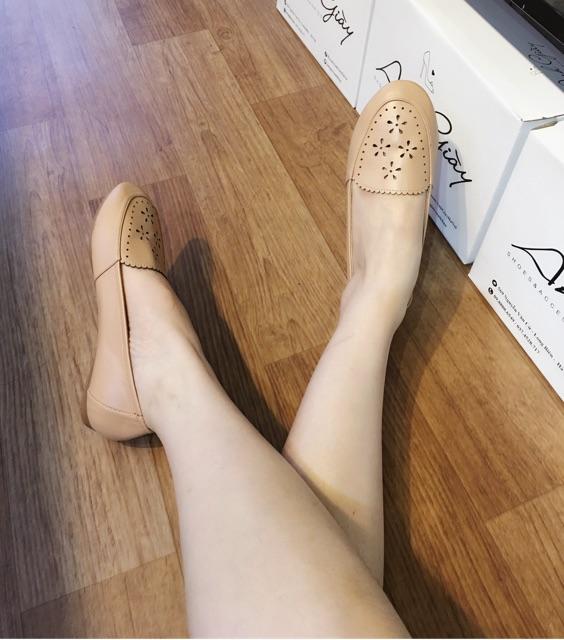 Giày bệt da lì mềm êm VNXK( ảnh thật, kèm video)