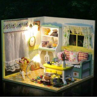 Mô hình nhà gỗ búp bê dollhouse DIY – D017 Pancy