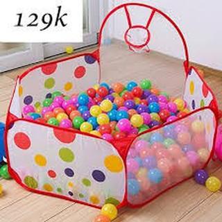 Combo lều bóng rổ tặng kèm 100 quả bóng nhựa cho bé