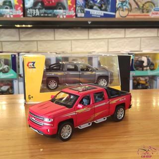 Mô hình xe bán tải Chevrolet Silverado V8 tỉ lệ 1:32 hãng Chezhi màu đỏ