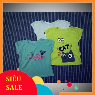 Set 3 áo phông cotton bé gái
