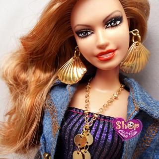 Trang Sức Búp Bê Barbie – Vòng cổ, Hoa Tai Búp bê Vỏ sò Handmade cao cấp