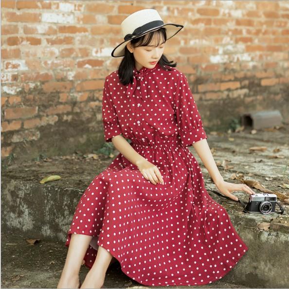[HÀNG CÓ SẴN] Đầm đỏ chấm bi dáng dài vô cùng nữ tính - 2408513 , 1292106357 , 322_1292106357 , 210000 , HANG-CO-SAN-Dam-do-cham-bi-dang-dai-vo-cung-nu-tinh-322_1292106357 , shopee.vn , [HÀNG CÓ SẴN] Đầm đỏ chấm bi dáng dài vô cùng nữ tính