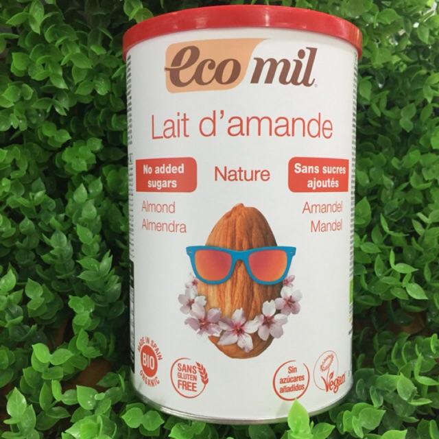 Sữa Bột hạnh nhân hữu cơ Ecomil 400g