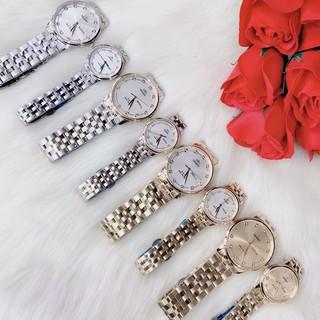 ( Cặp đôi) đồng hồ nam nữ Orient có lịch , dây thép , size 38 28mm thumbnail