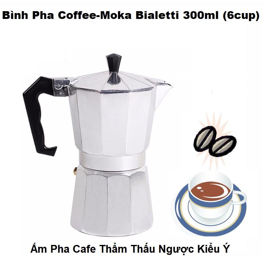 Bình Pha Cafe Kiểu Ý Bialetti Moka Express Italy - Ấm Pha Coffee 6 Cup 300ML  - Có Ảnh Thật ( Video ) | Shopee Việt Nam