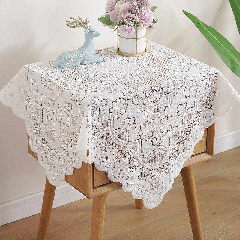 Chic Lace Tablecloth Dust-proof Table Cover TV Cabinet Dust Cover Home  Decor Tablecloth | Shopee Việt Nam