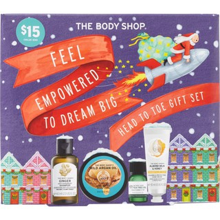 [SẴN, BILL MỸ] Set Mỹ Phẩm The Body Shop Feel Empowered To Dream Big Head To Toe Gift Set [beNineteen]