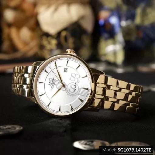 Đồng hồ nam SRWATCH Timepiece TE SG1079.1402TE mặt kính Sapphire chống trầy chống nư