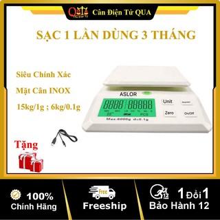 Cân Điện Tử Mini Cân Nhà Bếp 6kg 15kg Sạc Pin Sạc 1 Lần Dùng 3 Tháng Siêu Chính Xác Bảo Hành 1 Năm Shop QUA 168A