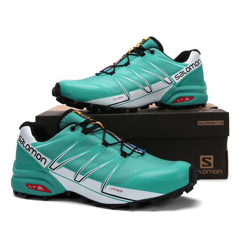 <AA> รองเท้าผู้ชาย Salomon SPEEDCROSS PRO สีเขียว