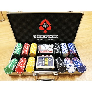 Bộ 300 Chip Poker Chính Hãng – 3Tone – Loại Không số