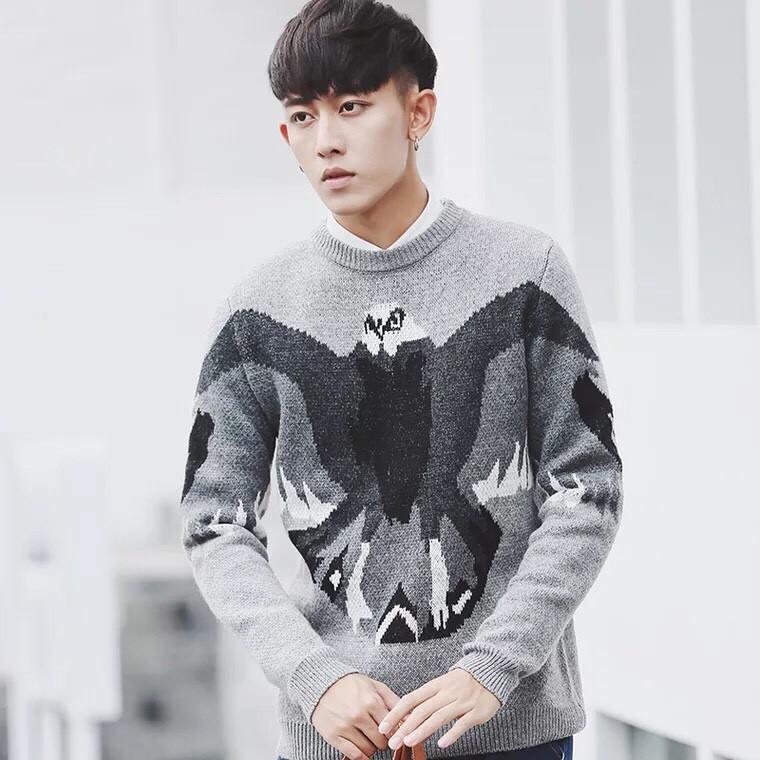 Áo len nam thời trang kiểu cách họa tiết đẹp - Áo len