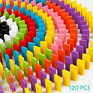 Đồ chơi gỗ-Domino màu 120 chi tiết