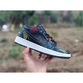 Giày thể thao Jordan da rắn xanh đen thumbnail