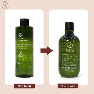 CHÍNH HÃNG Nước tẩy trang Micellar Water Zakka Naturals 3in1 (size lớn 500ml) Fermented Sea Kelp Micellar Water thumbnail