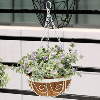 Home Living Room Retro Planter Balcony Flower Pot With Chain Garden Decoration Round Spherical Hanging Basket