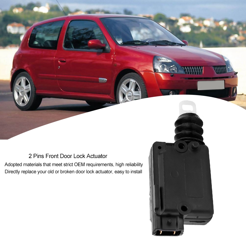 2 Pins Front Door Lock Actuator for Renault Clio