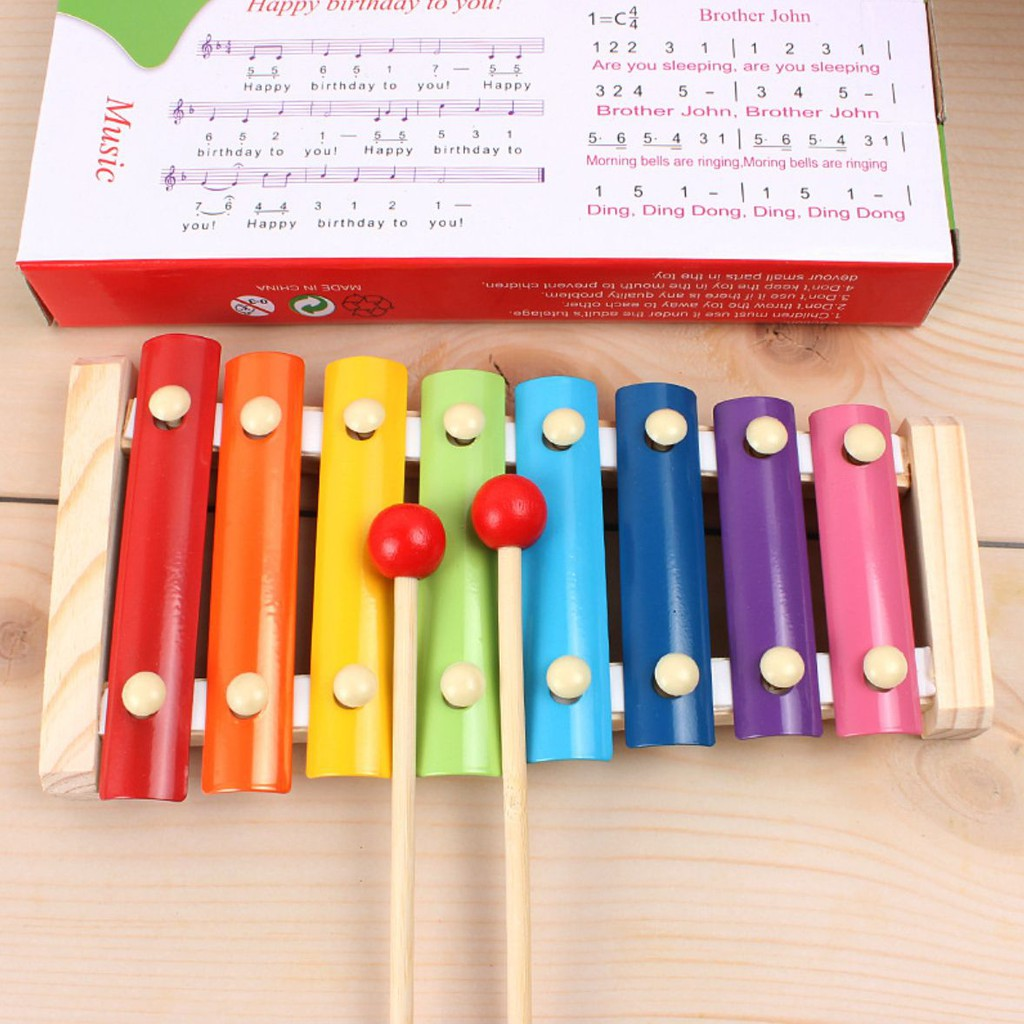 [ĐỒ CHƠI THÔNG MINH] Đàn mộc cầm xylophone cỡ nhỏ cho bé - Đàn mộc cầm bằng gỗ cho bé tập chơi