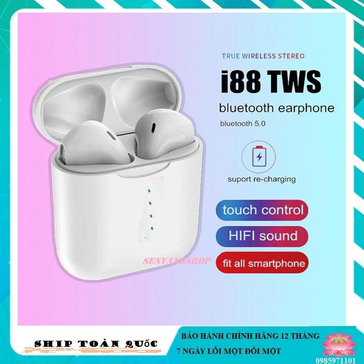 [ HÀNG HÍT ] tai nghe không dây i88 mini, Bluetooth V5.0 Tay nghe stereo cho tất cả điện thoại thông minh