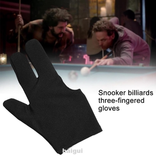 Three Finger Cue Snooker Left Hand Pool Sport Unisex Protective Billard Gloves