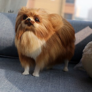 ★_Simulated Cute Pomeranian Dog Photography Props Desktop Car Home Decor Toy Gift