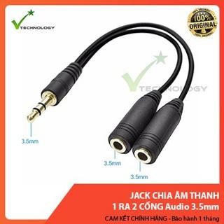 Jack Chia Âm Thanh 1 Ra 2 Cổng Audio 3.5mm