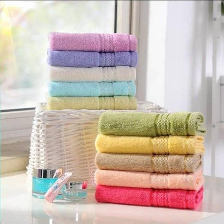 Combo 05 khăn rửa mặt chất cotton dày đẹp, nhiề