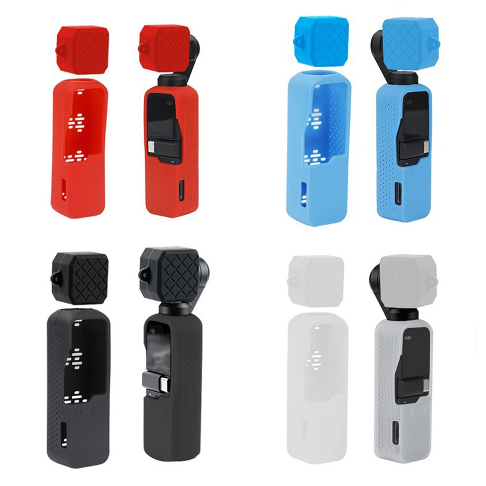Lightweight Soft Silicone Hollow Out Anti Shock Protective Case Sweatproof Bright Color For DJI OSMO Pocket