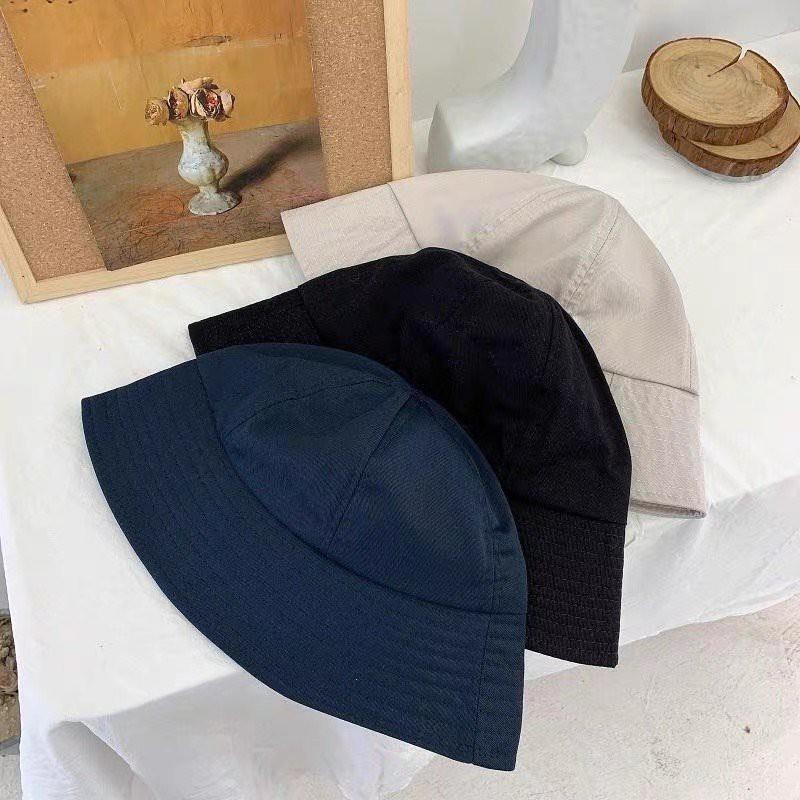 Nón bucket mũ tai bèo nam nữ màu trơn MD02
