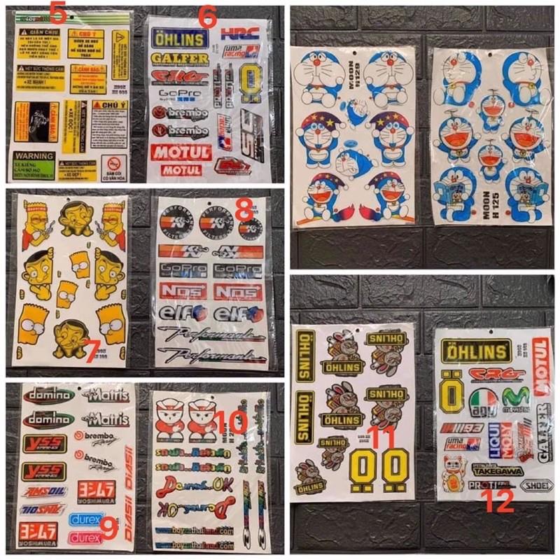 [Siêu Rẻ] [Sticker Single]  Hình Dán Sticker Tem Xe | Sticker Dán Xe, Tem Dán Xe Máy, Xe Điện Chống Thấm Nước