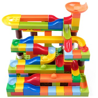Tháp lăn bi mô hình gồm 206 chi tiết đồ chơi lắp ghép trẻ em