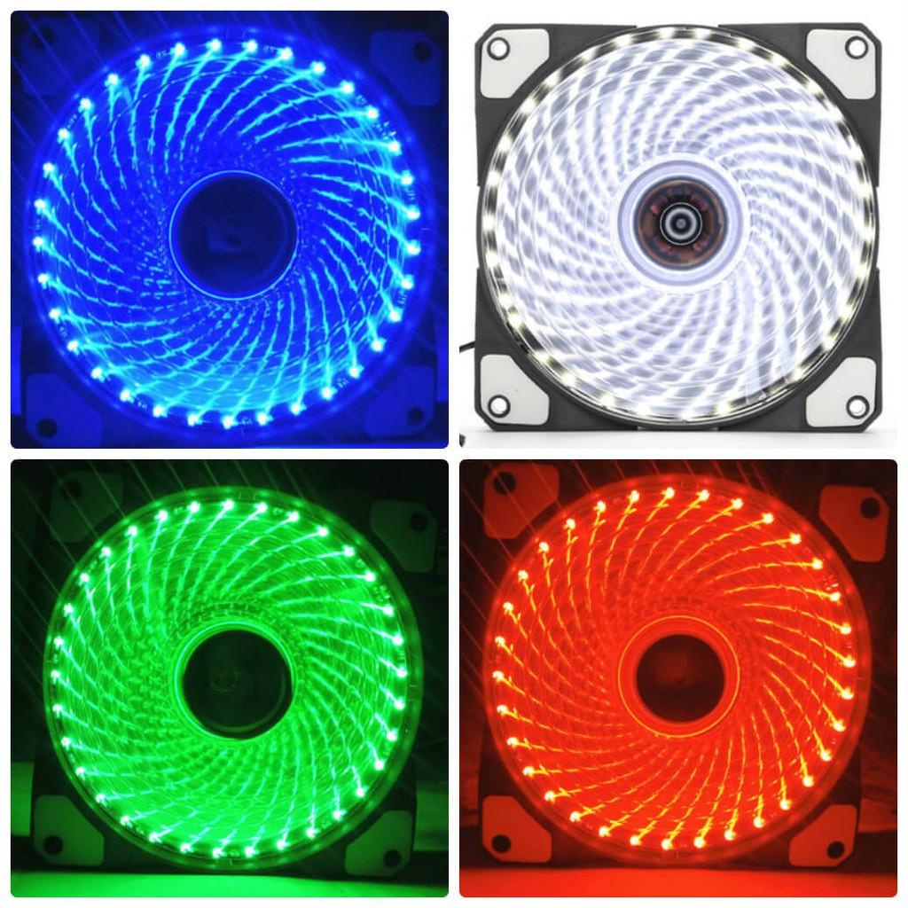 Fan Led 33 Bóng Đèn Led 12cm Làm Mát Cho Case Máy Tính nhiều màu lựa chọn