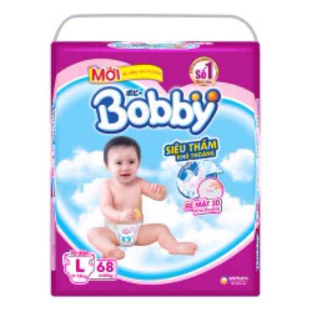 Bỉm dán Bobby L68,XL62