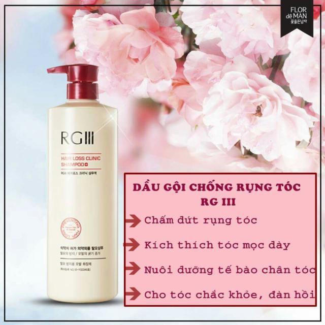 Dầu gội chống rụng tóc Saponin RGIII 520ml - Hàn Quốc