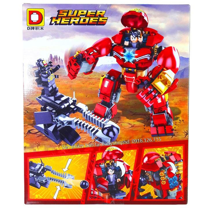 VTT anhhue – Bộ Lego Xếp Hình Người Sắt (Robot Iron Man). Gồm 334 Chi Tiết. Lego Ninjago Lắp Ráp Đồ Chơi Cho Bé.