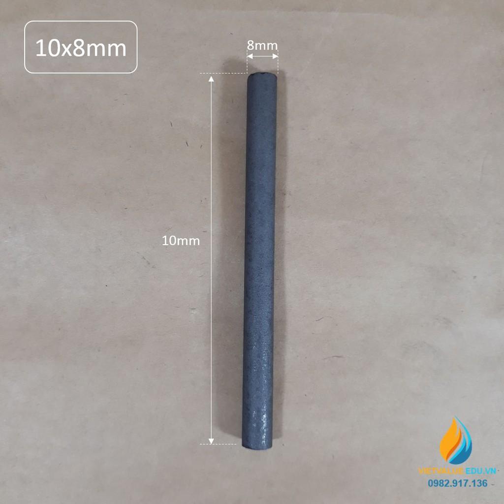 Điện cực than chì, độ tinh khiết cao dẫn điện tốt, kích thước 8mmx100mm, điện cực điện phân