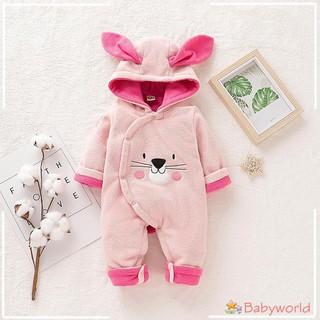 Bộ áo liền quần tay dài in hình thỏ dễ thương cho trẻ sơ sinh