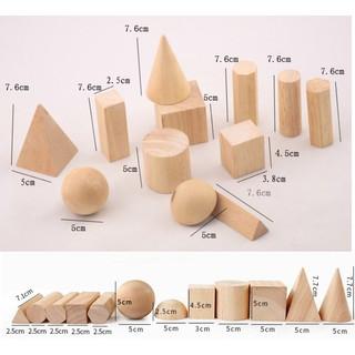 Giáo cụ Montessori – Bộ 12 khối hình học cơ bản