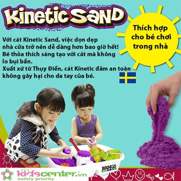Cát Động Lực Kinetic Sand Build chính hãng từ RANGS Nhật Bản | Màu Xanh Dương & Màu Trắng