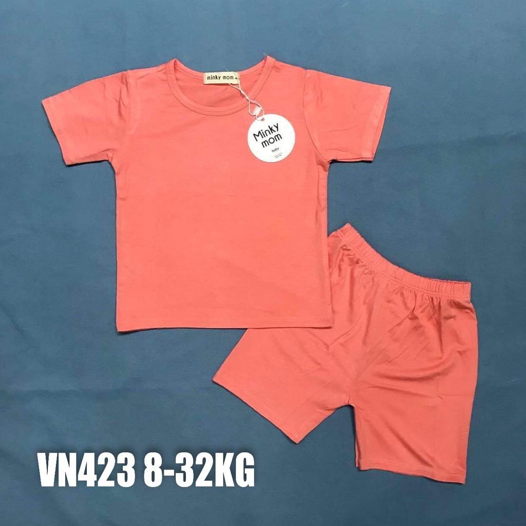 Bộ Minky Mom Cộc Tay, Ngắn Tay. Bộ Mimky Mom siêu mềm mịn mát cho bé trai bé gái, Size Từ 80-150(8-32KG).
