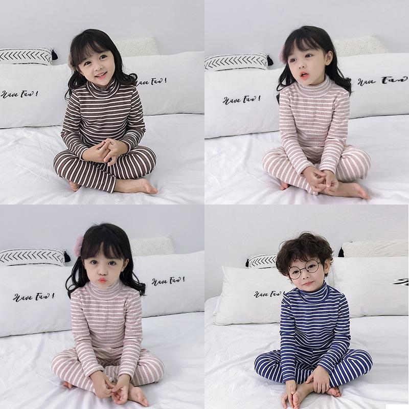 Bộ quần áo cotton dài tay bo gấu QATE384 cho bé trai và bé gái