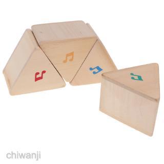 Kids Children's Wooden Triangular Blocks Sound Memory Game Learning Toy