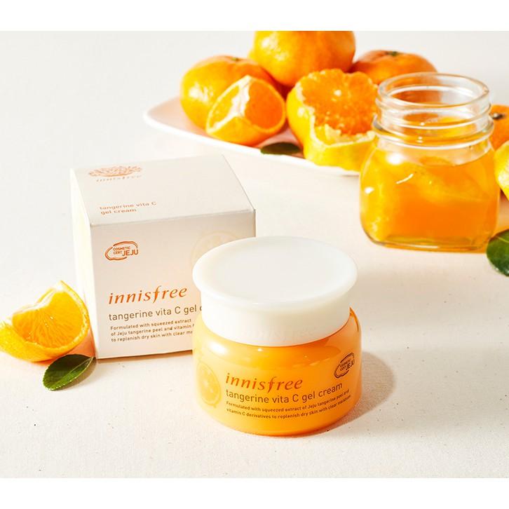 Kem dưỡng làm trắng, giảm nám, mờ thâm Innisfree Tangerine Vita C Gel Cream 50ml