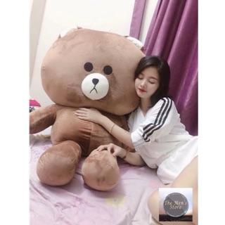 [ẢNH THẬT]Size 1m5 Gấu bông BROWN socola