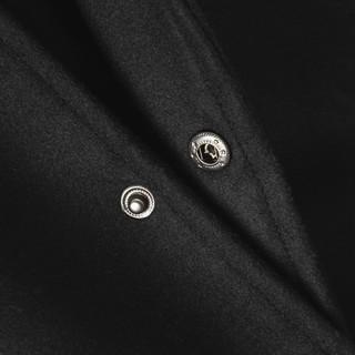 Hình ảnh Áo khoác Bomber nam họa tiết trơn Felt And Leather chất ép từ Len giữ nhiệt và thoáng - FEAER DENIM-6