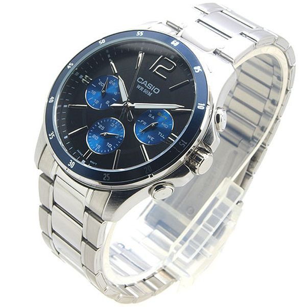 Đồng hồ nam Casio chính hãng MTP-1374, dây kim loại