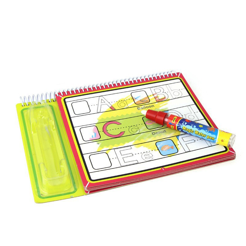 Water Drawing Book with 1 Magic Pen Water Painting Board Toy Coloring Book